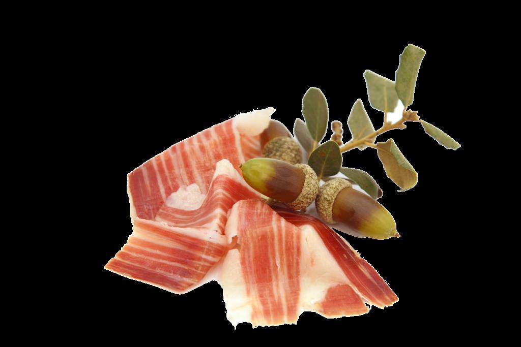 Loncheado de jamón de bellota ibérico de Embutidos Quintero.